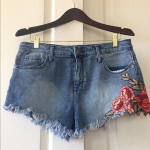 Mossimo high rise embroidered shorts-G1